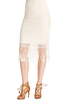 Jessica Simpson Rivera Fringe Skirt