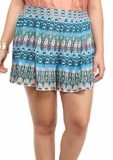 Jessica Simpson Plus Size Printed Izzy Soft Short