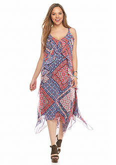 Jessica Simpson Plus Size Valencia Printed Dress