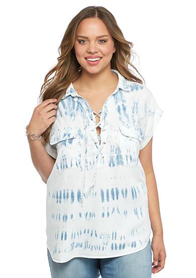 Jessica Simpson Plus Size Cress Chambray Shirt