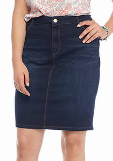 Jessica Simpson Plus Size Haven Denim Pencil Skirt