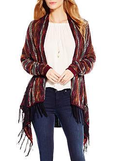 Jessica Simpson Arijana Stripe Fringe Cardigan