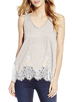 Jessica Simpson Plus Size Embroidered Lace Tank