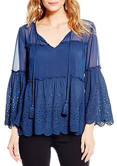 Jessica Simpson Plus Size The Rayna Peasant Shirt