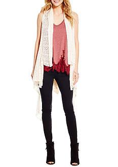 Jessica Simpson Plus Size Rosci Sweater Cosi Vest