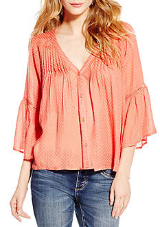 Jessica Simpson Plus Size Skip Peasant Top