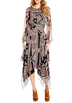 Jessica Simpson Plus Size Long Tapestry Dress