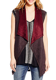 Jessica Simpson Plus Size Suede Vest
