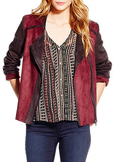 Jessica Simpson Plus Size Elora Bonded Side Moto Jacket