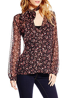 Jessica Simpson Plus Size Cerena Clip Dot Bow Top