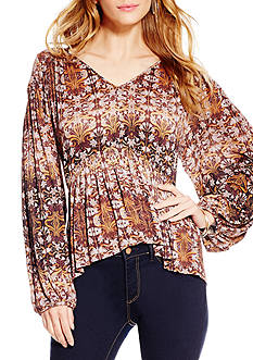 Jessica Simpson Plus Size Knit Peasant Top
