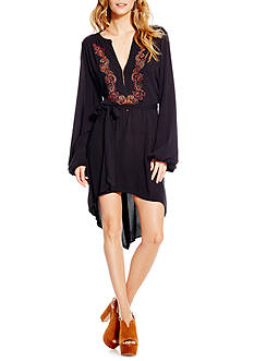 Jessica Simpson Plus Size Solid Peasant Dress