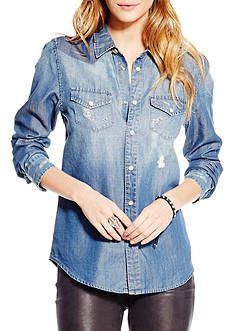 Jessica Simpson Plus Size Pixie Classic Denim Shirt