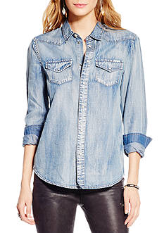 Jessica Simpson Plus Size Pixie Classic Denim Shirt