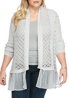 Jessica Simpson Plus Size High Low Cardigan