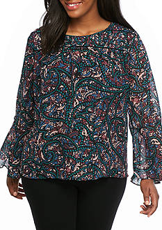 Jessica Simpson Plus Size Bell Sleeved Blouse