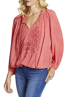 Jessica Simpson Elizabella Embroidered Peasant Top