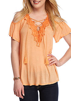Jessica Simpson Kiki Cold Shoulder Top