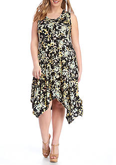 Jessica Simpson Plus Size Karenine Sleeveless Uneven Dress