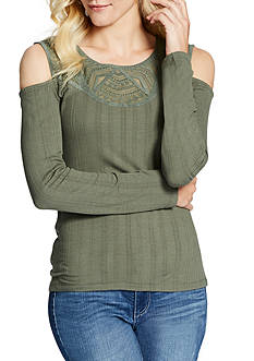 Jessica Simpson Rosarie Cold Shoulder Top