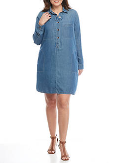 Jessica Simpson Plus Size Katya Denim Dress