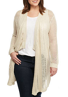 Jessica Simpson Plus Size Pina Relaxed Draped Cardigan