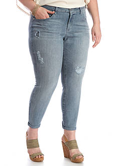 Jessica Simpson Plus Size Rolled Skinny Jeans