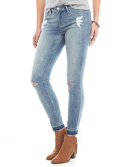 Jessica Simpson Kiss Me Cropped Destructed Jeans