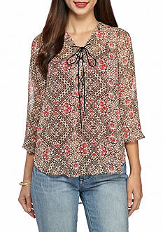 Jessica Simpson Morgan Lace-Up Sweet Journey Blouse
