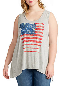 Jessica Simpson Plus Size Jara Independence Day Tank