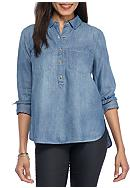 Jessica Simpson Poppy Swing Button Down