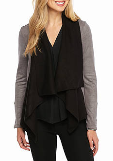 Jessica Simpson Cameron Drape Front Jacket
