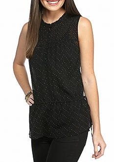 Jessica Simpson Dazzle Stud Sleeveless Blouse