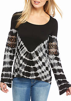 Jessica Simpson Laurine Tie Dye Knit Top