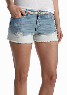 Jessica Simpson Embroidered Dip Dye Short