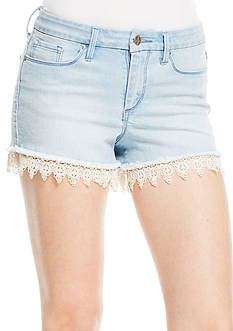 Jessica Simpson Light-Wash Lace Short
