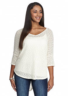 Jessica Simpson Plus Size Elinah Boat Neck Pullover Sweater