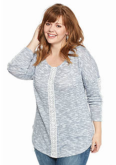 Jessica Simpson Plus Size Phillis Marled Sweater