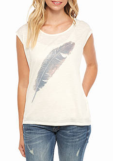 Jessica Simpson Winne Feather Graphic Tee