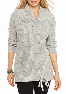 Jessica Simpson Gwenore Lace Up Sweater
