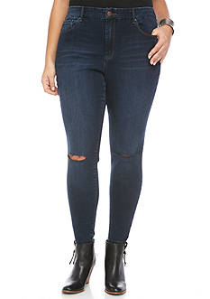Jessica Simpson Plus Size Curvy High-Rise Skinny Jeans