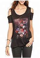 Jessica Simpson Lorani Cold Shoulder Graphic Tee