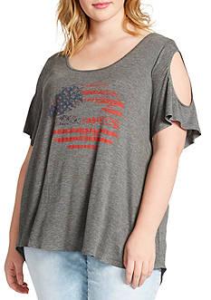 Jessica Simpson Plus Size Ummi Independence Day Tee