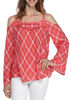 Jessica Simpson Rosi Cold Shoulder Top