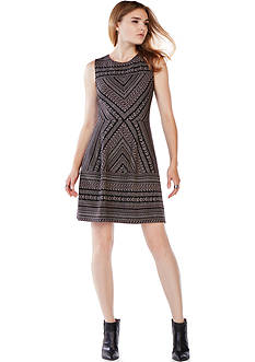 BCBGMAXAZRIA Stretch Lace Dress