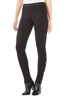 BCBGMAXAZRIA Bobby Side-Snap Leggings