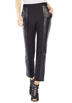 BCBGMAXAZRIA Pieced Faux Leather Pant