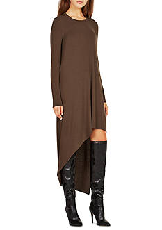 BCBGMAXAZRIA Long Sleeve Hi-Lo Dress