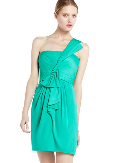 One Shoulder Luxe Satin Dress