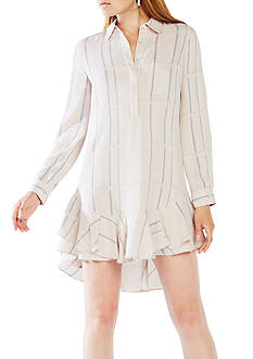 BCBGMAXAZRIA Long Sleeve Skirted Shirt Dress